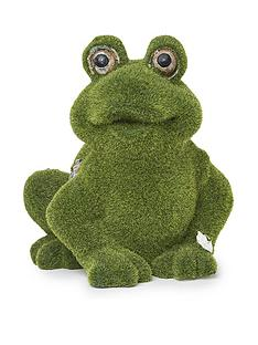 paroh-frog-flocked-garden-ornament
