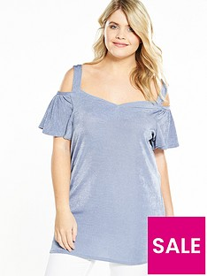 v-by-very-curve-cold-shoulder-bardot-top-blue