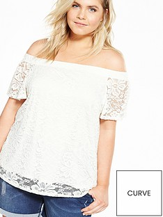 v-by-very-curve-lace-bardot-top