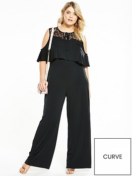 v-by-very-curve-cold-shoulder-lace-jumpsuit