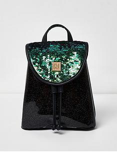 river-island-river-island-girls-sequin-drawstring-backpack