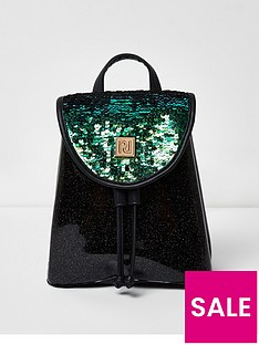 river-island-river-island-girls-sequin-drawstring-backpack