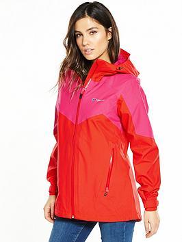 Berghaus Ridgemaster Waterproof Jacket - Red/Pink | very.co.uk