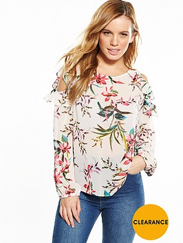 v-by-very-petite-cold-shoulder-frill-woven-top