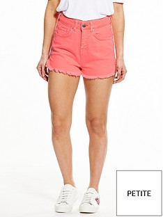v-by-very-petite-high-waisted-denim-shorts