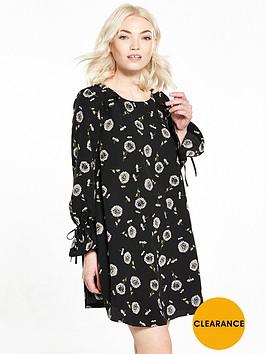 ri-petite-black-floral-smock-dress