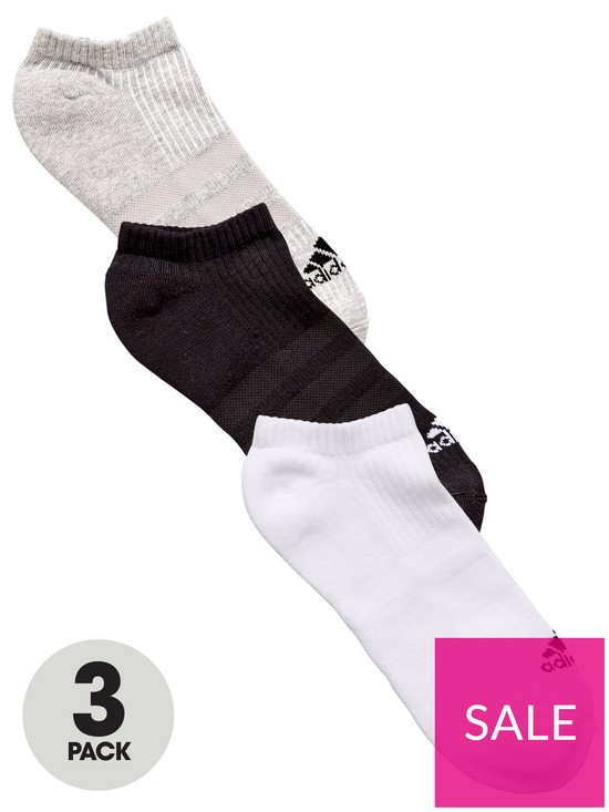 2fc5871cc1 adidas 3S Ankle Socks (3 Pack) | very.co.uk