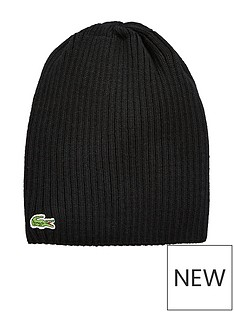 lacoste-lacoste-ribbed-beanie