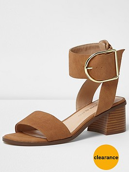 river-island-block-heel-buckle-sandal