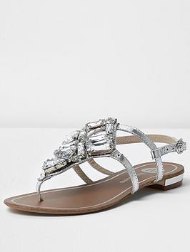 river-island-embellished-flat-sandal