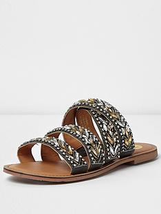 river-island-3-strap-embellished-slip-on