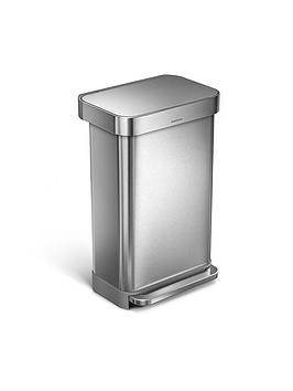simplehuman-simplehuman-rectangular-pedal-bin-48-litre