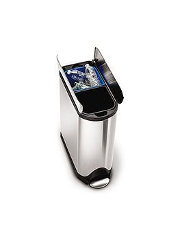 simplehuman-simplehuman-butterfly-recycler-pedal-bin-40-litre
