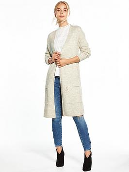 v-by-very-zip-pocket-long-line-cardigan