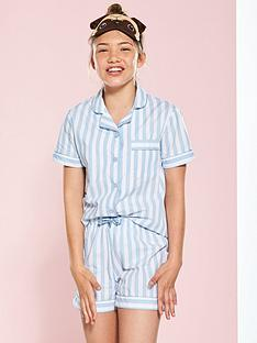 v-by-very-stripe-short-set