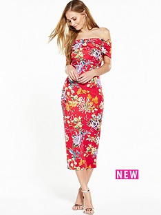 v-by-very-bow-bardot-midi-dress