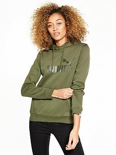 puma-essentials-no1-hoodie-olive