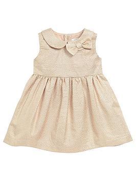 mamas-papas-baby-girls-metallic-jacquard-dress