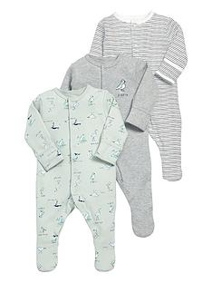 mamas-papas-baby-boys-3-pack-puffin-print-sleepsuits