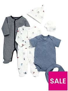 mamas-papas-baby-6-piece-town-print-set