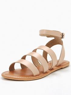 v-by-very-cherish-leather-multi-strap-flat-sandal-nude