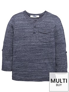 mini-v-by-very-boys-roll-sleeve-grandad-tee-navy