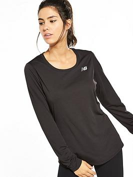 New Balance Accelerate Long Sleeve Top - Black