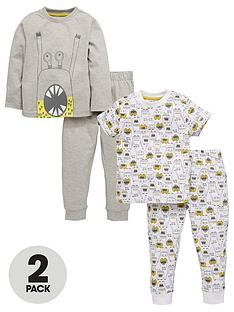 mini-v-by-very-boys-2pk-monster-pyjamas