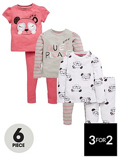 mini-v-by-very-toddler-girls-quiet-please-panda-pyjama-set-6-piece