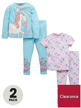 mini-v-by-very-girls-2pk-glitter-unicorn-pyjamas