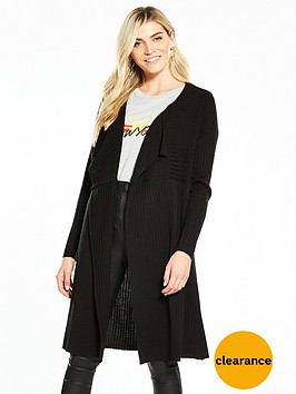 v-by-very-ribbed-drape-front-cardigan