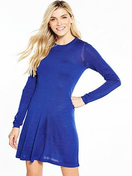 v-by-very-crochet-stitch-detail-knitted-swing-dress