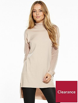 v-by-very-roll-neck-mesh-sleeve-jumper