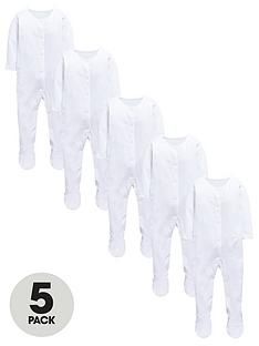 mini-v-by-very-baby-unisex-5pk-popper-front-sleepsuits