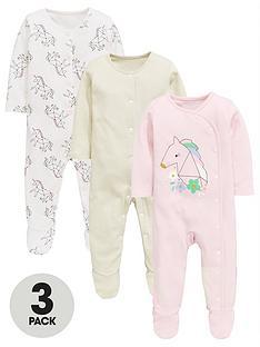 mini-v-by-very-baby-girls-3-pack-unicorn-sleepsuits