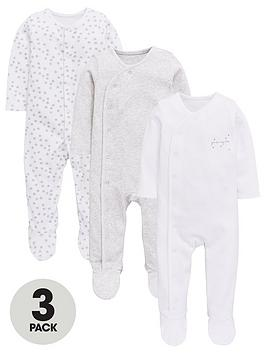 mini-v-by-very-baby-unisex-3-pack-stars-sleepsuits