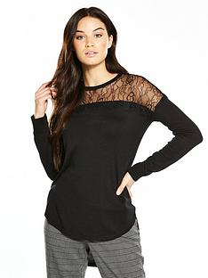 v-by-very-lace-yoke-circle-hem-jumper-black