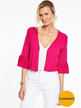 v-by-very-frill-sleeve-short-cardigan-bright-pinknbsp