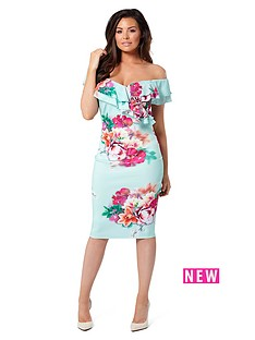 jessica-wright-summer-bardot-floral-midi