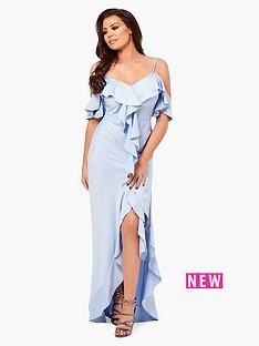jessica-wright-poppie-frill-bardot-maxi-dress