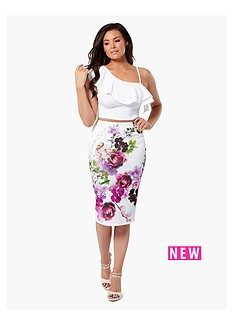 jessica-wright-beatrix-floral-bodycon-skirt