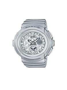 baby-g-casio-baby-g-studded-dial-silver-strap-watch