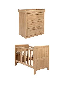 mamas-papas-atlas-cottoddler-bed-amp-dresser-set-oak-effect
