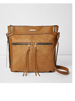 river-island-zip-front-messenger-bag