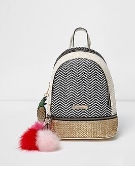 river-island-mixed-weave-mini-backpack