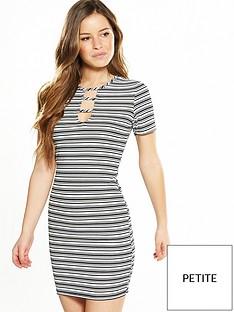 miss-selfridge-petite-stripe-front-bodycon-dress