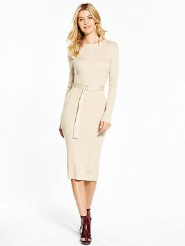 v-by-very-skinny-rib-d-ring-belted-knitted-midi-dress