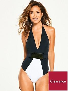myleene-klass-belted-mono-plunge-swimsuit