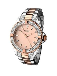 seksy-seksy-rose-tone-dial-two-tone-bracelet-ladies-watch