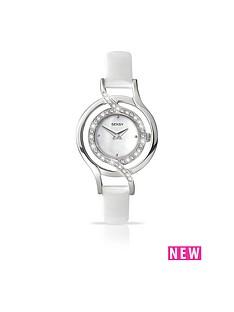 seksy-white-dial-diamonte-detail-white-strap-ladies-watch